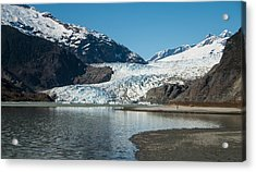 Mendenhall Glacier In Alaska Acrylic Print