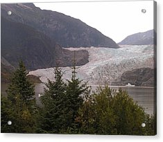 Mendenhall Glacier From The Path. Acrylic Print