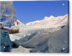 Acrylic Print featuring the photograph Mendenhall Glacier Refraction by Cathy Mahnke