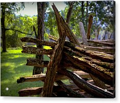 Mending Fences Acrylic Print by Karen Wiles