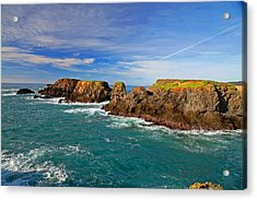 Mendocino Coast Acrylic Print by Joe Fernandez