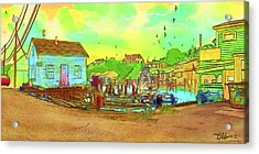 Menemsha Harbor Acrylic Print by Gerry Robins
