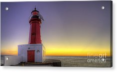 Menominee Lighthouse At Sunrise Acrylic Print by Twenty Two North Photography