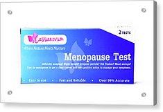 Menopause Test Acrylic Print