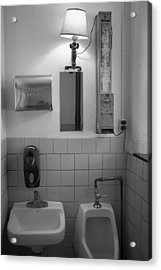 Mens Room Acrylic Print by Hugh Smith