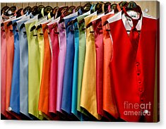 Mens Tuxedo Vests In A Rainbow Of Colors Acrylic Print