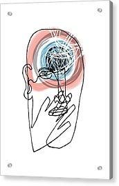 Mental Health Acrylic Print by Paul Brown