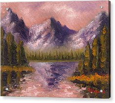 Acrylic Print featuring the painting Mental Mountain by Jason Williamson