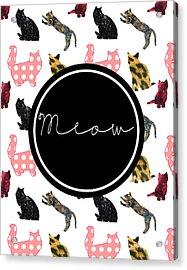 Meow Acrylic Print