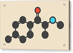 Mephedrone Molecule Acrylic Print
