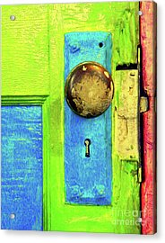 Mercado Door Acrylic Print by Joe Jake Pratt