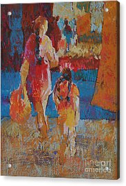 Mercado Mother And Daughter Acrylic Print