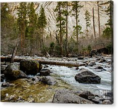 Merced River From Happy Isles 2 Acrylic Print by Terry Garvin