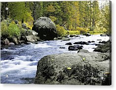 Merced River In Yosemite Acrylic Print