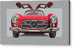 Mercedes 300 Sl Gull Wing Acrylic Print by Alain Jamar