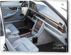 Mercedes 560 Sec Interior Acrylic Print by Gunter Nezhoda