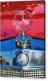 Mercedes Badge Acrylic Print by George Atsametakis