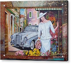 Mercedes-benz 220 S Cabriolet Acrylic Print