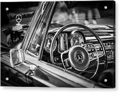 Acrylic Print featuring the photograph Mercedes-benz 250 Se Steering Wheel Emblem by Jill Reger