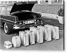 Mercedes-benz And Luggage Acrylic Print