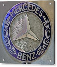 Mercedes Benz Badge Blue Acrylic Print