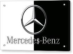 Mercedes-benz Logo Acrylic Print