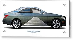 Mercedes-benz Cls550 Trelleborg Acrylic Print by Jan W Faul