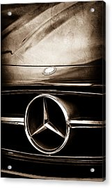Acrylic Print featuring the photograph Mercedes-benz Grille Emblem by Jill Reger
