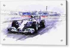 Mercedes F1 W05 Acrylic Print