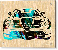 Mercedes Painting Acrylic Print by Marvin Blaine