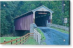 Mercer's Mill Covered Bridge Acrylic Print