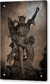 Mercury Carrying Eurydice To The Underworld Acrylic Print by Loriental Photography