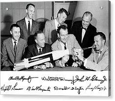 Mercury Seven Astronauts Acrylic Print