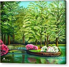 Meredith Lake - Meredith College - Raleigh Nc Acrylic Print by Shelia Kempf