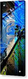 Merged - Painted Blues Acrylic Print by JBDSGND OsoPorto