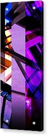 Merged - Purple City Acrylic Print by JBDSGND OsoPorto