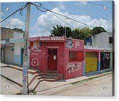 Merida Mexico Street Corner Acrylic Print