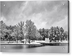 Acrylic Print featuring the photograph Meridian Parkway Winter by Ben Shields