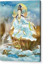 Acrylic Print featuring the photograph Merit King Kuan Yin by Lanjee Chee