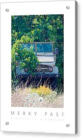 Acrylic Print featuring the digital art Merky Past Beautifully Distressed Poster by David Davies