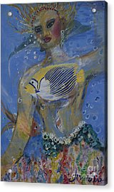 Acrylic Print featuring the painting Mermaid by Avonelle Kelsey