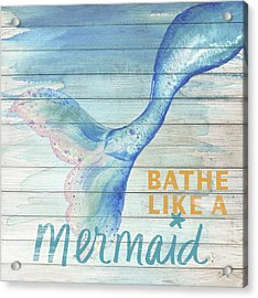 Mermaid Bath I Acrylic Print