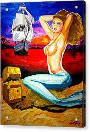 Mermaid Acrylic Print by Eric Hamilton