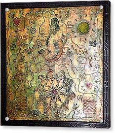 Mermaid Goddess By Alfredo Garcia Acrylic Print
