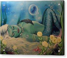 Mermaid In Seabed Acrylic Print