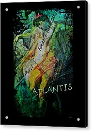 Mermaid Love Spell Acrylic Print by Absinthe Art By Michelle LeAnn Scott