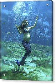 Mermaid Madonna Acrylic Print by Julie Komenda
