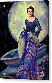 Mermaid Mother Acrylic Print