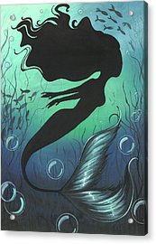 Mermaid Of The Deep Sea Acrylic Print by Elaina  Wagner