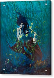 Mermaid Acrylic Print by Rob Corsetti